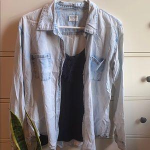 Acid Washed Denim Over-shirt